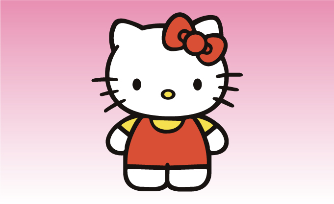 Hello Kitty Girly Sticker