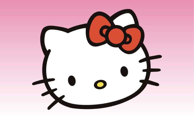 Hello Kitty 3 Girly Sticker