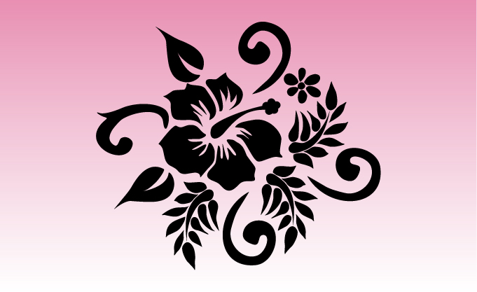 Hibiscus 2 Girly Sticker