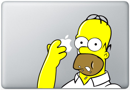 MacBook Homer Eating