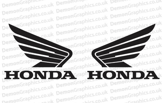 Bike Decal Pair Of Honda 2