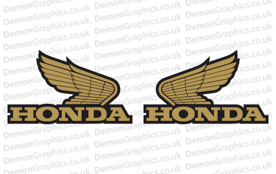 Bike Decal (Pair of) Honda 7
