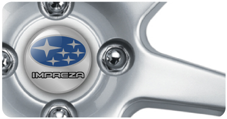 Wheel Centre Badges - Subaru Impreza (set of 4)