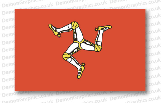 Isle Of Man Flag (Pair)