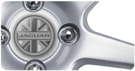 Wheel Centre Badges - Jaguar GB (set of 4)