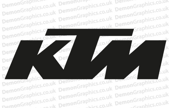 Bike Decal (Pair of) KTM 1