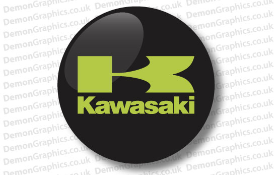 Kawasaki Domed Tank decal 2""