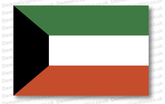Kuwait Flag (Pair)