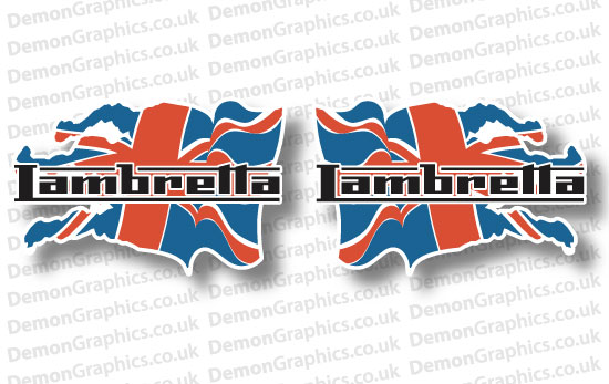 Bike Decal (Pair of) Lambretta 10