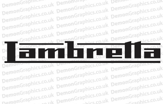 Bike Decal (Pair of) Lambretta 1