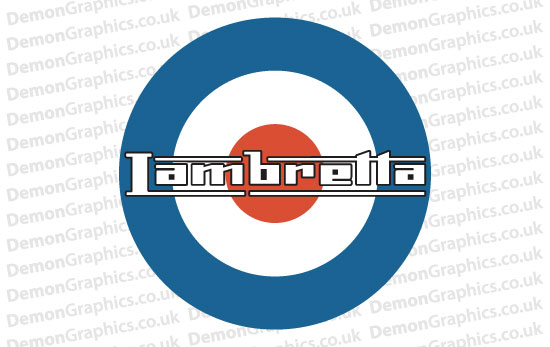 Bike Decal (Pair of) Lambretta 3