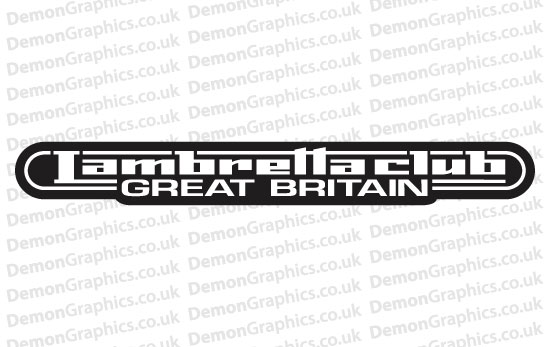 Bike Decal (Pair of) Lambretta 5