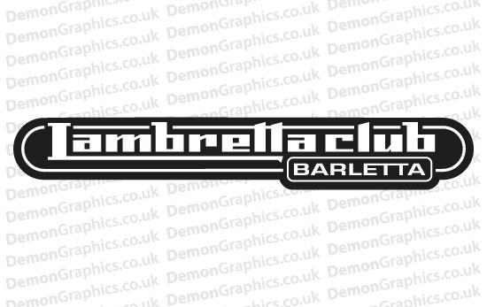 Bike Decal (Pair of) Lambretta 6