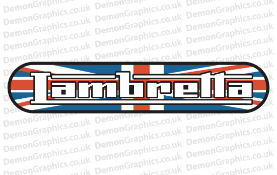 Bike Decal (Pair of) Lambretta 7
