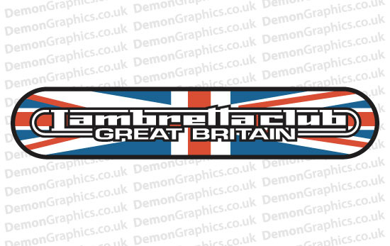 Bike Decal (Pair of) Lambretta 8