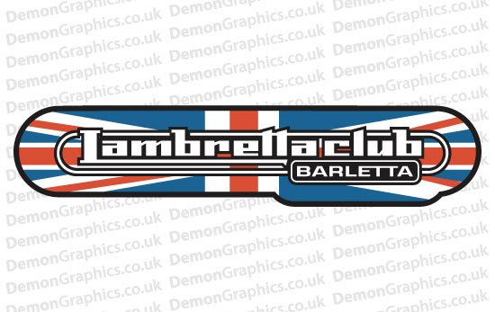 Bike Decal (Pair of) Lambretta 9