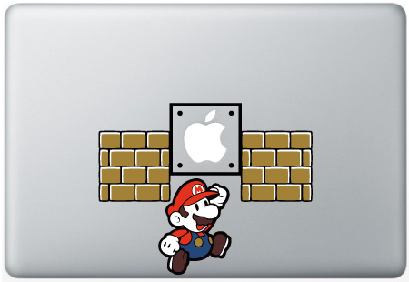 MacBook Mario Jumping