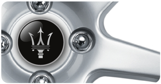 Wheel Centre Badges - Maserati 2 (set of 4)