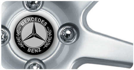 Wheel Centre Badges - Mercedes 2 (set of 4)