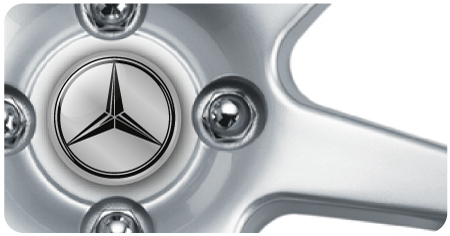 Wheel Centre Badges - Mercedes (set of 4)