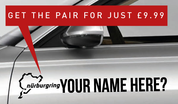 Nurburgring Rally Tag £9.99 for both sides