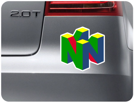 Nintendo 64 Retro Sticker