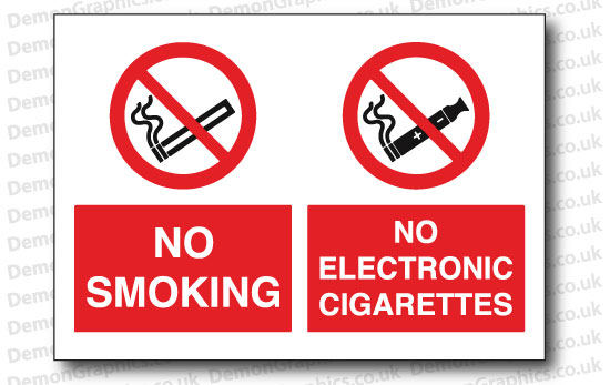 No Smoking No Electronic Cigarettes Sticker or Sign
