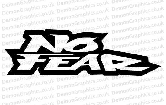 No fear sticker 1 pair of
