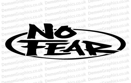 No Fear Sticker # 2 (Pair of)