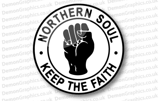 Northern Soul Domed Tank Decal 2""