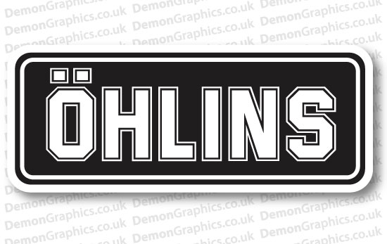 Bike Decal (Pair of) Ohlins 2