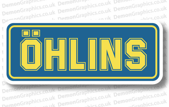 Bike Decal (Pair of) Ohlins 1