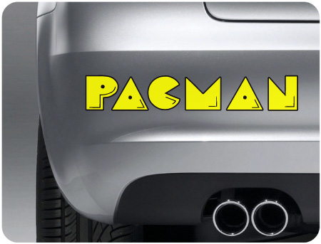 Pac Man Retro 3 Sticker