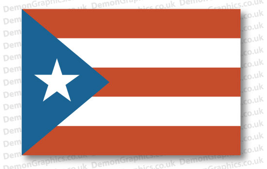 Puerto Rico Flag (Pair)