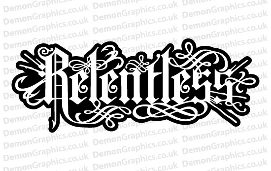Relentless Sticker # 1 (Pair of)