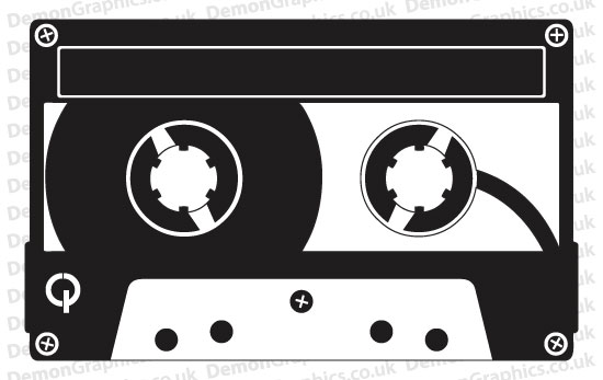 Retro Cassette Tape Sticker