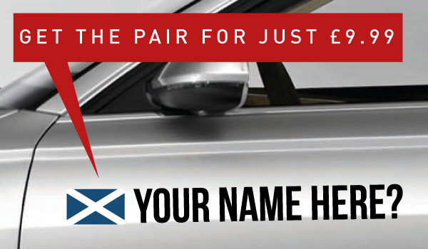 Scotland Tag �9.99 for both sides