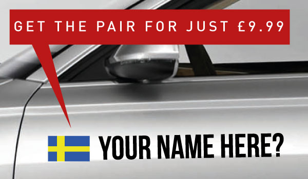 Sweden Tag £9.99 for both sides