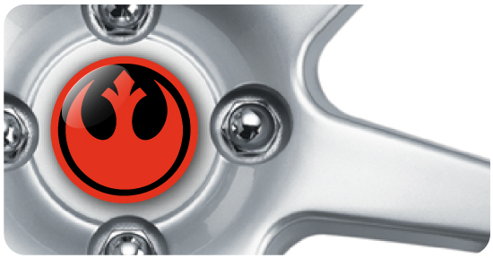 Wheel Centre Badges - Star Wars 1 (set of 4)