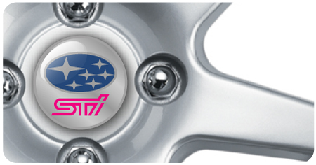 Wheel Centre Badges - Subaru STI (set of 4)