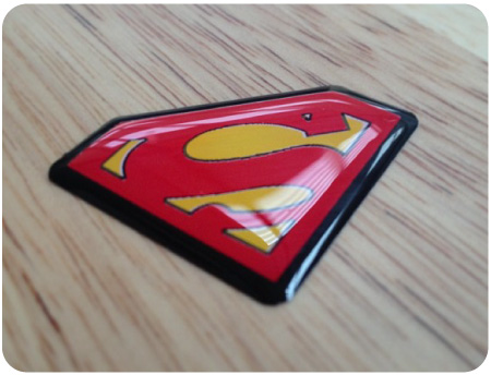 Superman Domed Badge