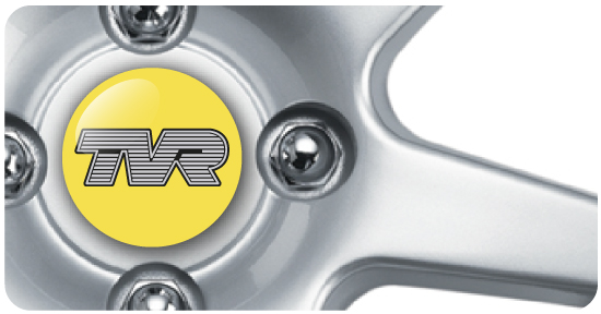 Wheel Centre Badges - TVR 2 (set of 4)