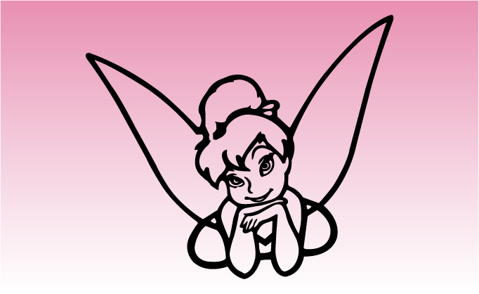 Tinkerbell Girly Graphic