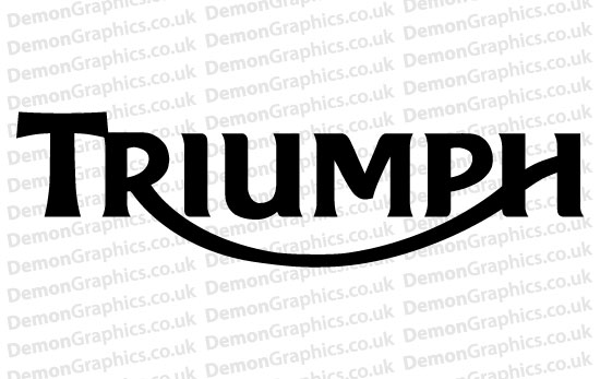 Bike Decal (Pair of) Triumph 3