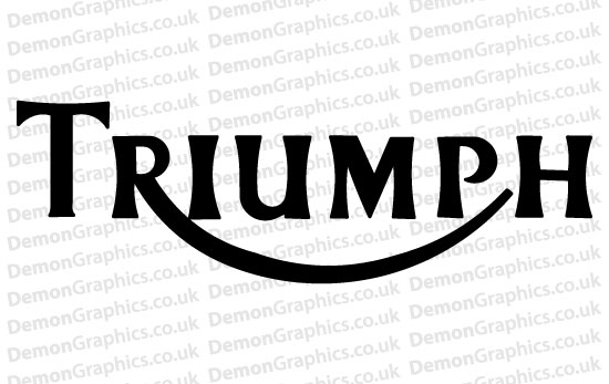 Bike Decal (Pair of) Triumph 7