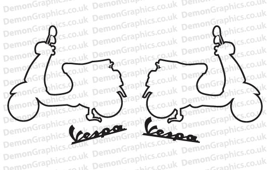 Bike Decal (Pair of) Vespa 3