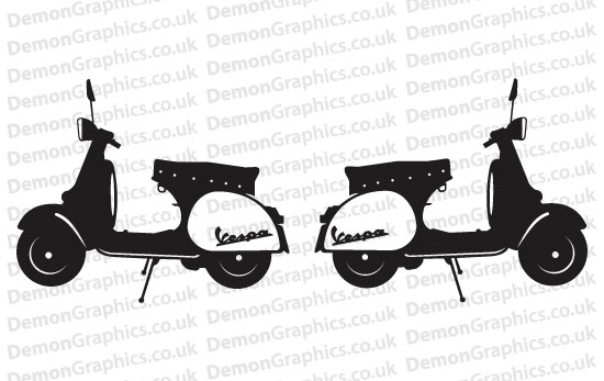 Bike Decal (Pair of) Vespa 4
