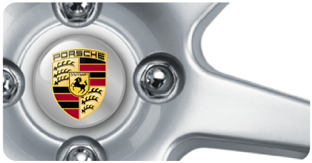Wheel Centre Badges - Porsche (set of 4)