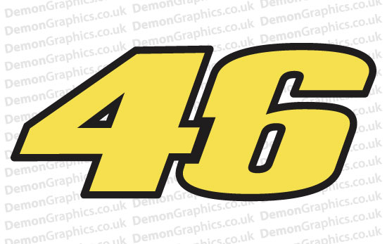Bike Decal (Pair of) 46 Number