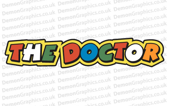 Bike Decal (Pair of) 46 Doctor